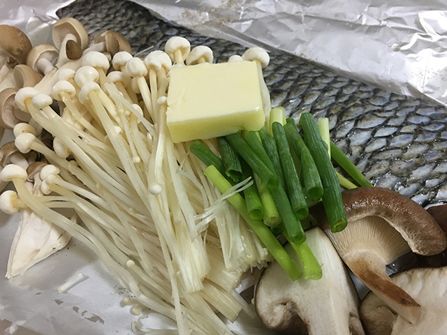 チヌ(クロダイ)料理ホイル焼き