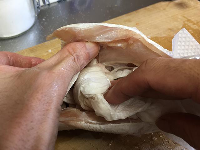 チヌ(クロダイ)料理野菜あんかけ