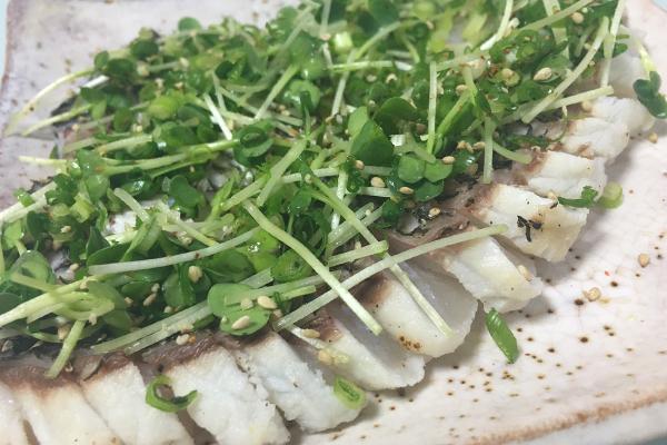 チヌ(クロダイ)料理炙りたたき