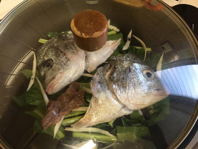 広東風中華蒸し|チヌ(クロダイ)料理