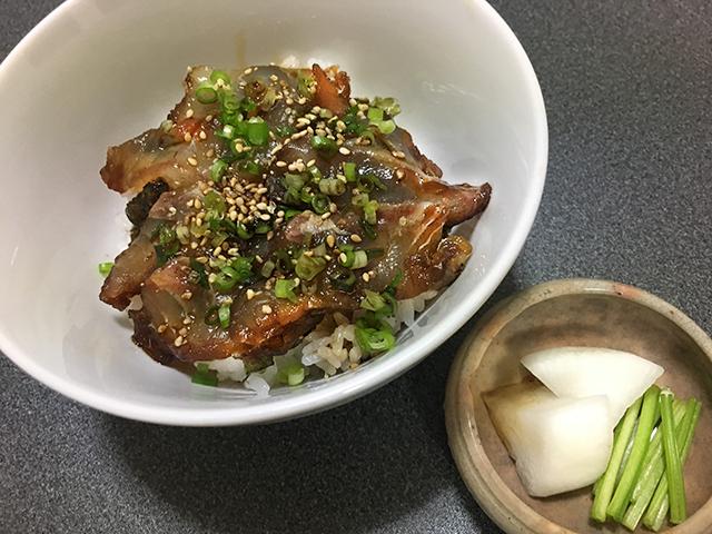 チヌ(クロダイ)料理づけ丼
