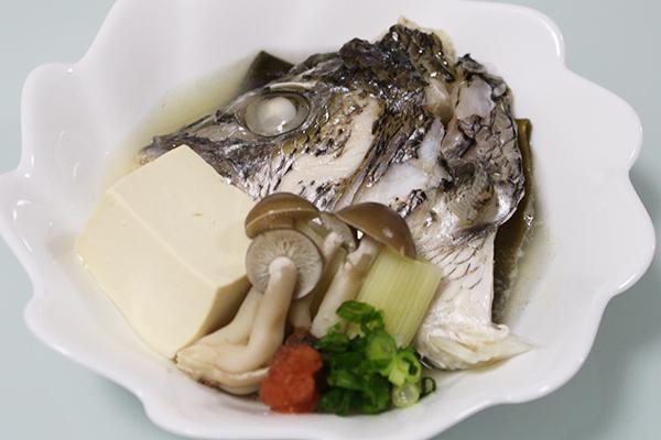 チヌ(クロダイ)料理酒蒸し