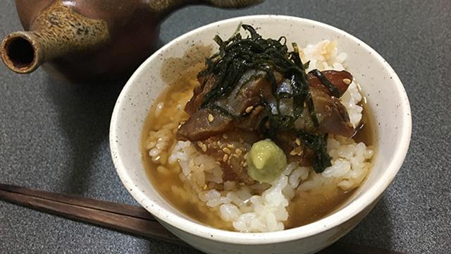 チヌ(クロダイ)料理づけ茶漬け