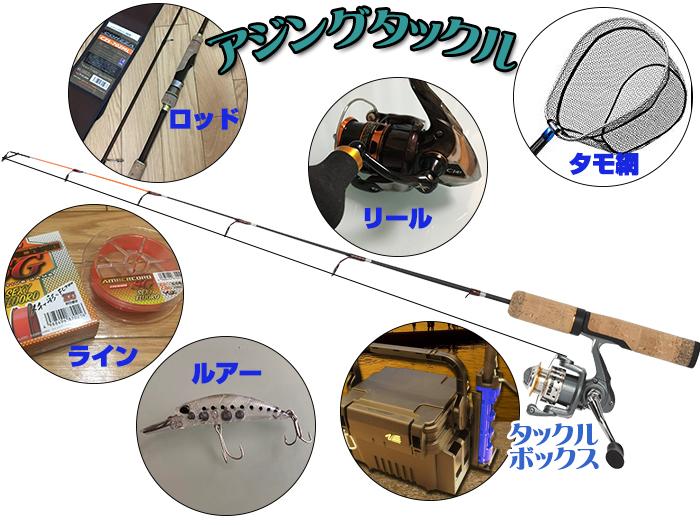 アジングタックル図解画像