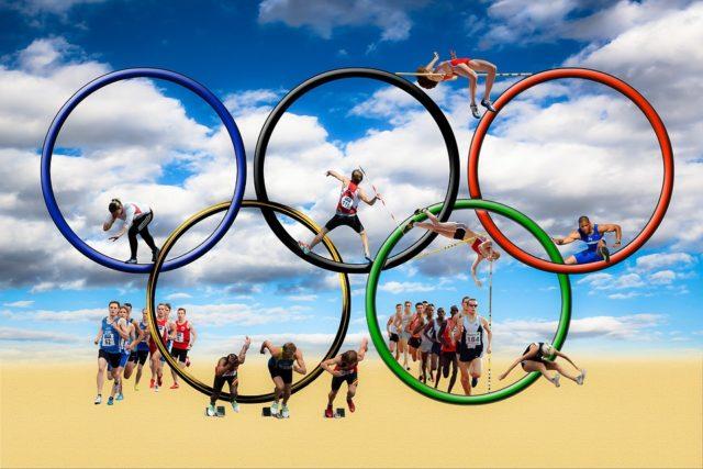 オリムピックの競技スポーツの画像