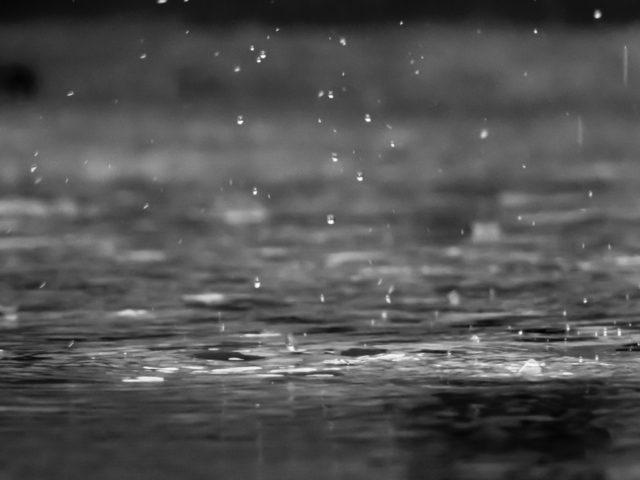 雨の日の水面画像
