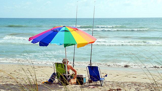夏の猛暑に熱中症対策しながら爆釣真昼間釣り画像