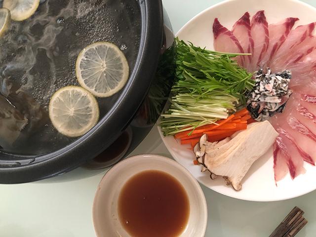 しゃぶしゃぶ|チヌクロダイ料理
