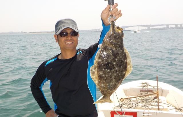 ヒラメ船釣り
