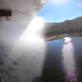晴れ時々魚!?スケールが違うアメリカの稚魚を空中から放流!米ユタ州
